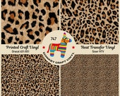 Patterned Vinyl Leopard skin animal skin Printed HTV, Adhesive Craft Vinyl,Patterned Heat Transfer Vinyl, Outdoor Vinyl, Indoor Vinyl 747