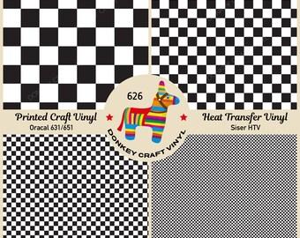 7ad0047f Black and White Checkerboard Siser Heat Transfer Vinyl, Oracal Adhesive  Craft Vinyl- 626