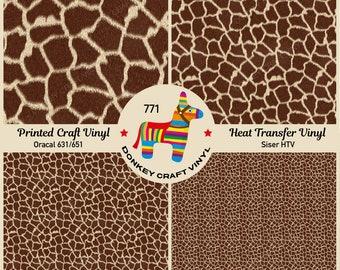 GIRAFFE SPOTS PRINT PATTERN #2 HTV Heat Transfer Vinyl 12x14 Giraffe Print for Shirts