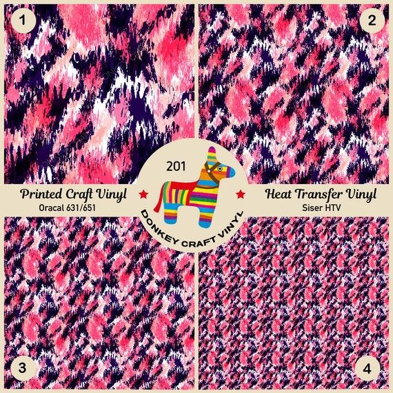 Watercolor Bloom Flowers Patterned Iron on Vinyl Printed HTV Adhesive Vinyl 386