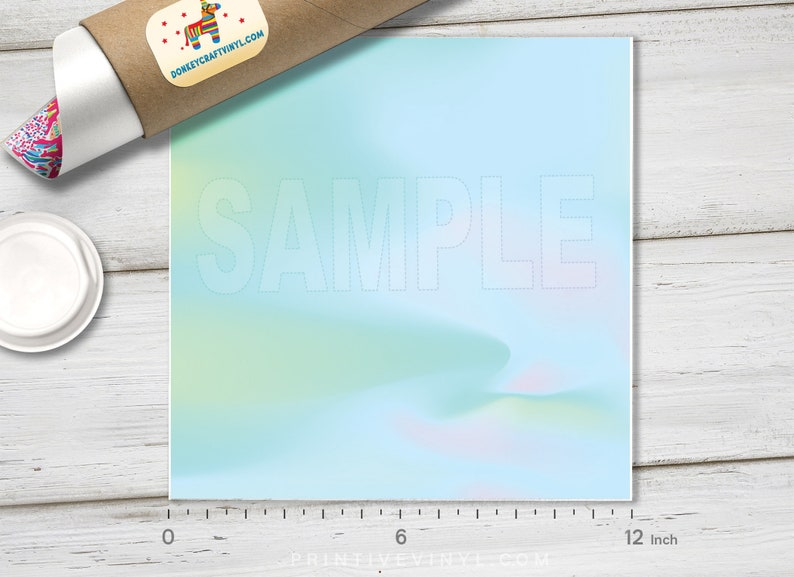 Pattern Vinyl Abstract Iridescent Holographic look  Printed HTV Pattern HTV Oracal Adhesive Craft Vinyl- 710 Siser Heat Transfer Vinyl