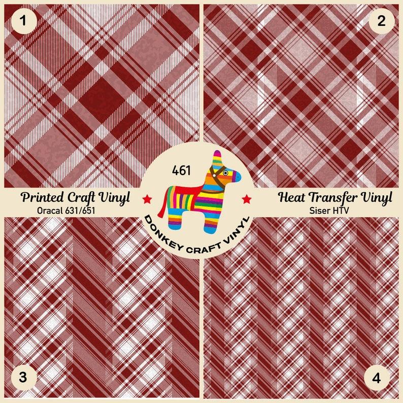 Siser Heat Transfer Vinyl Oracal Adhesive Craft Vinyl- 461 Iron on Vinyl Pattern HTV Tartan Plaid Printed HTV Glitter Pattern Vinyl