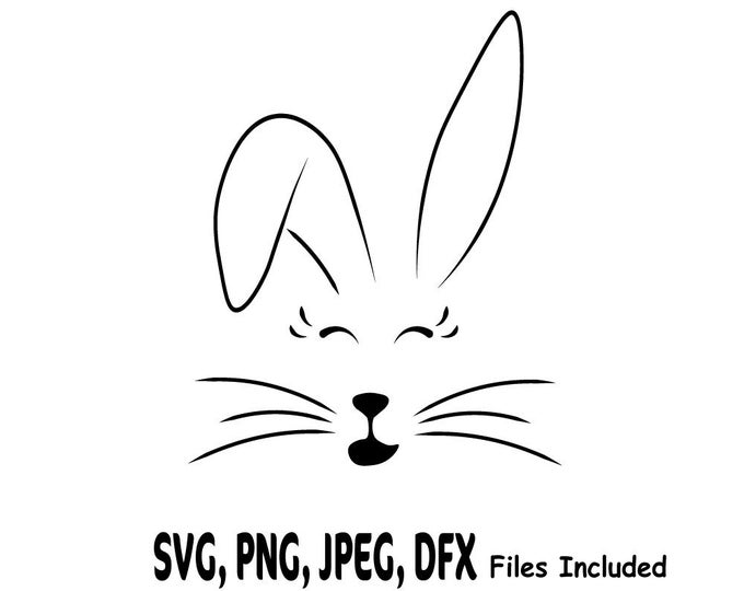 Girl Bunny SVG, Rabbit ClipArt, Easter SVG, Girl Bunny Face Cut File