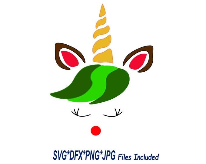 unicorn reindeer SVG, Holiday unicorn download, unicorn tree tshirt, diy unicorn cricut, Christmas clipart