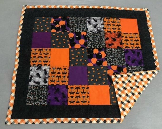 halloween baby quilt, little pumpkin, pumpkin baby shower, black cat blanket, halloween baby, fall baby shower, Halloween bedding
