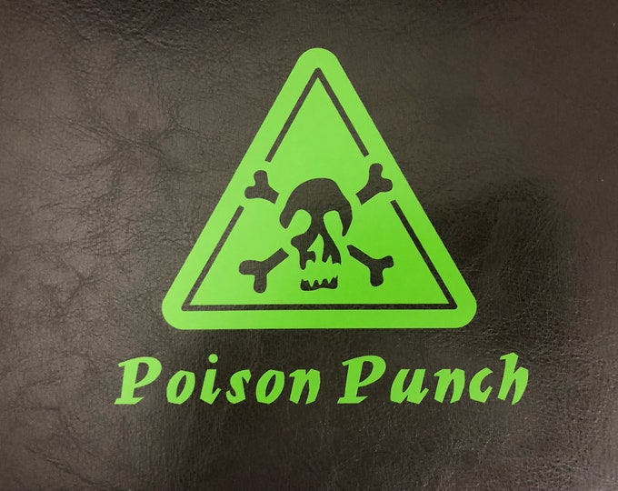 Poison punch/mad science party/ poison  bottle label/poison symbol/skull sticker/science stickers/ stranger things/ living dead/ zombie love