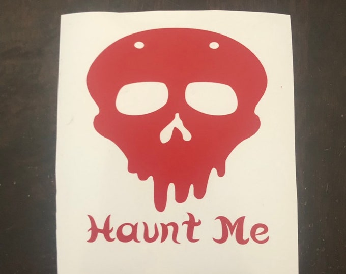 Haunt me/spooky decal/horror decal/mask sticker/scary skull/haunt decal/boo sticker/jason killer/gothic decal/pastel goth/ ghost decal