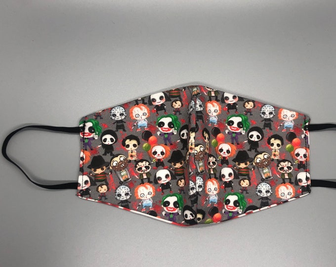 horror mask, zombie mask, cute gothic mask, creepy mask, monster mask, villain mask,  zombie face mask, clown mask