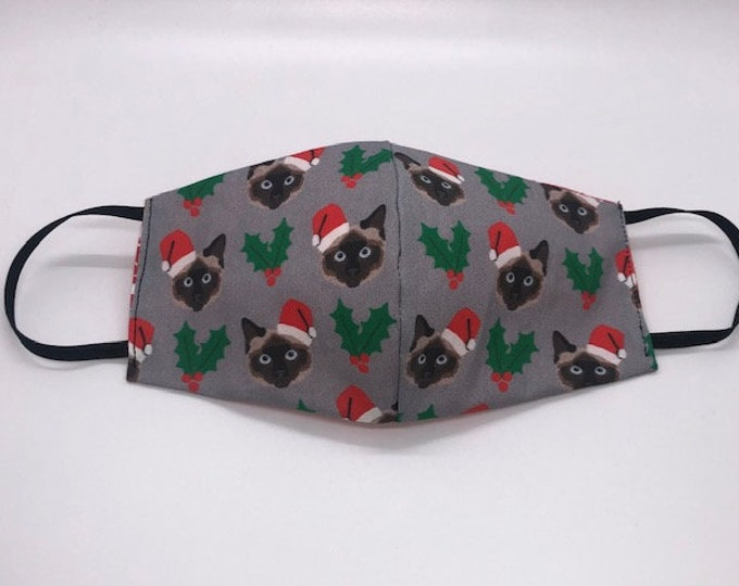 siamese cat, cat mask, christmas cat mask, holiday cat mask, vech tech gift, siamese cats gift