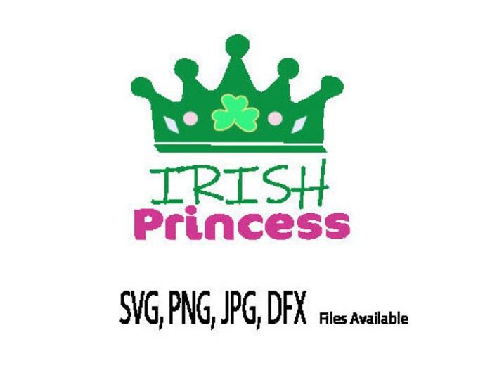 St Paddys SVG, St Patricks Cut file, Irish Princess Clip Art