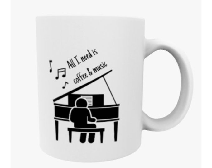 Piano teacher gift, piano gift, music mug, piano mug, music teacher gift, pianist gift, piano decor