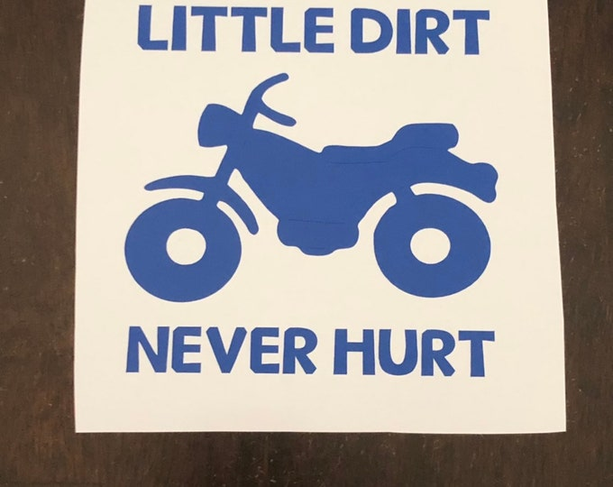 Dirt bike decal / boy wall art / Guy window sticker