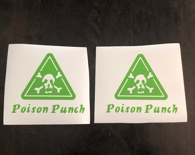 halloween party decal, poison stickers, 21 birthday sticker, cup stickers, bulk party stickers