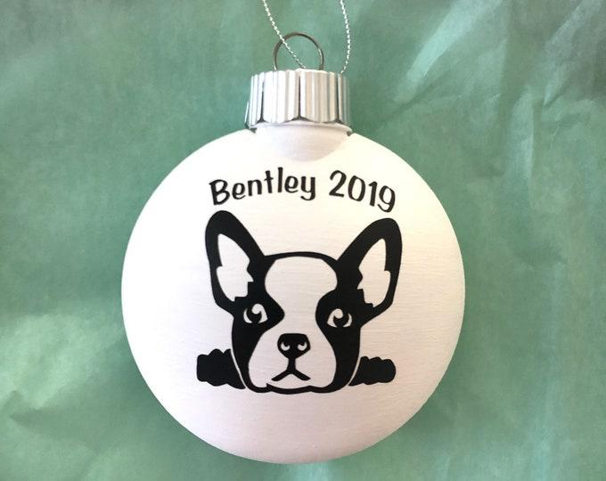 brown French bulldog ornament, personalized frenchie , custom dog ornament, dog mom gift/ black french bulldog
