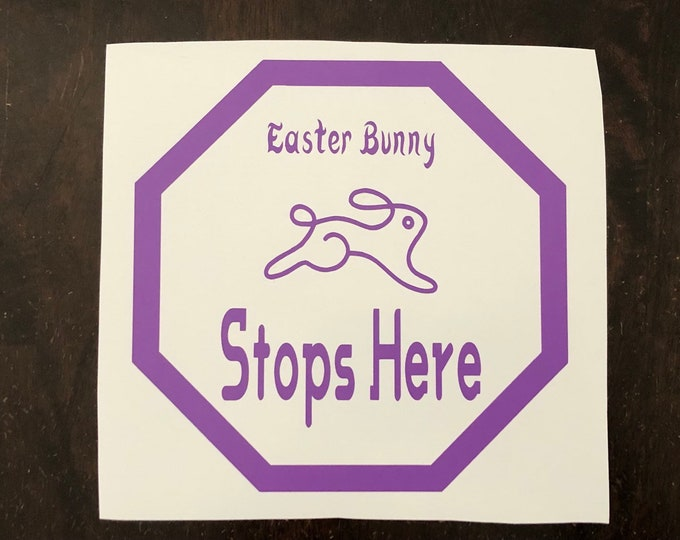 Easter Bunny Window decal, Spring window cling, Easter door hanger, Springtime Decor DIY