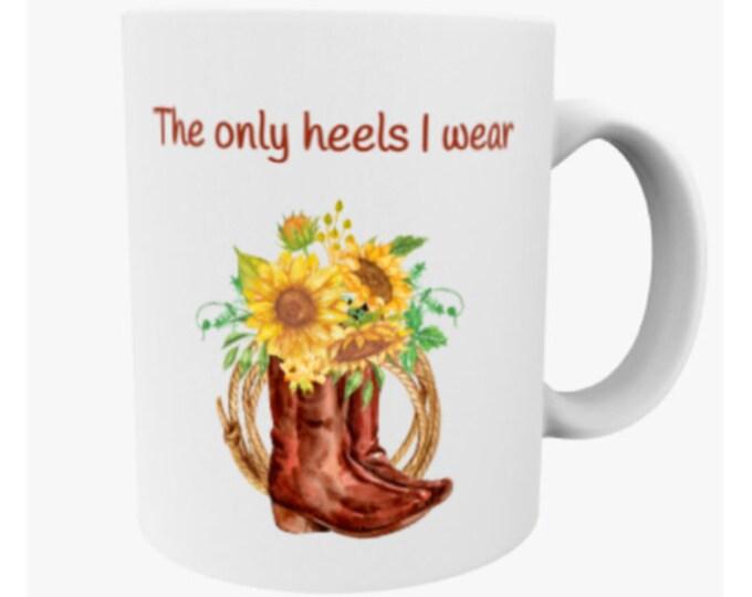 country girl gift, sunflower mug, southern girl, country girl mug, horse mug, horse trainer gift, country coffee mug, sunflower name gift
