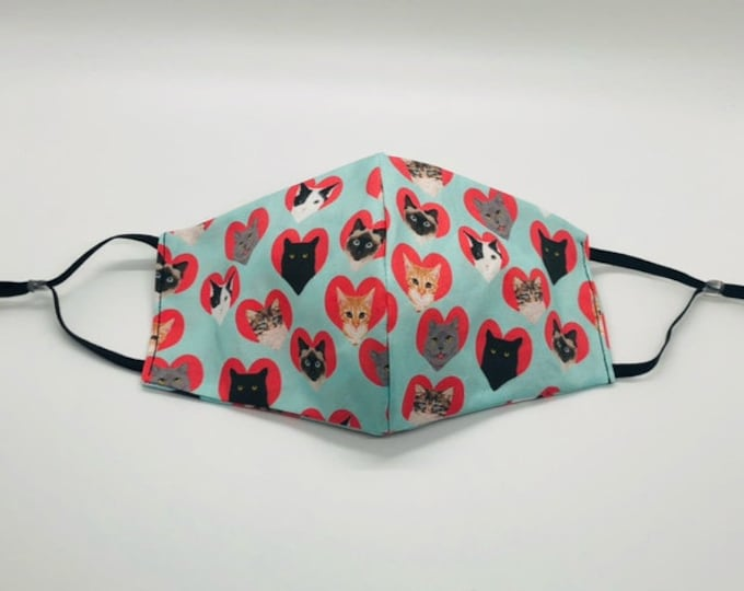 black cat mask, valentines mask,  cat valentine gift, crazy cat lady, vet tech gift, veterinary gift, tabby cat lover
