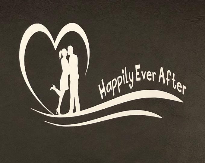Wedding Sign Decal, wedding couple decal, wedding date personalized, Custom Wedding Decal