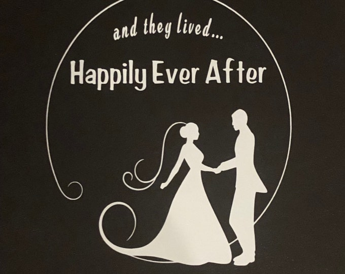 Wedding decal, bride groom sticker, happily ever after window cling, i do decal,  wedding dress decor, DIY wedding party