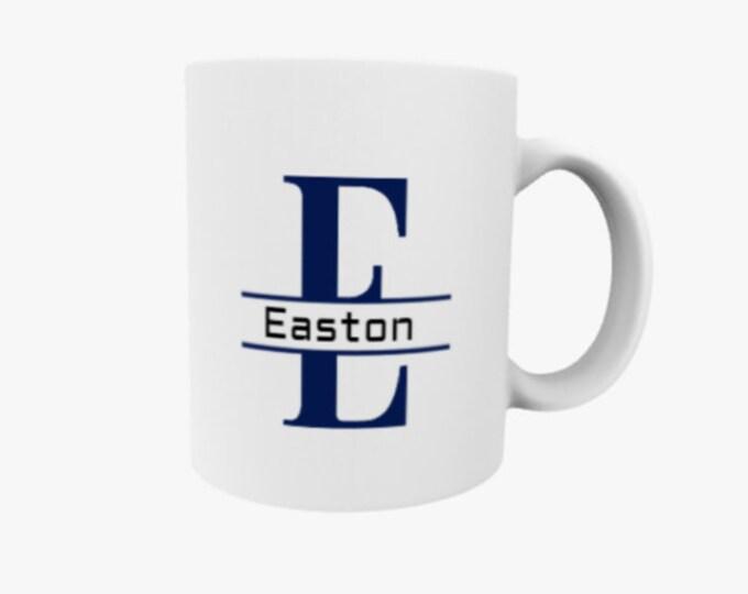 name mug, monogram mug, fathers day gift, dad coffee mug, graduation 2021 gift, gift for him, college dorm gift, college gift