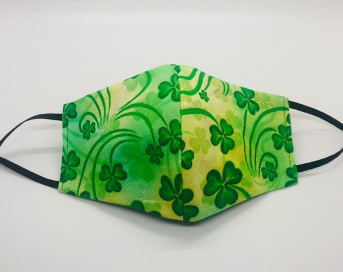 clover mask, st patricks day mask, Irish mask, clover face mask, lucky mask, irish face mask, shamrock mask