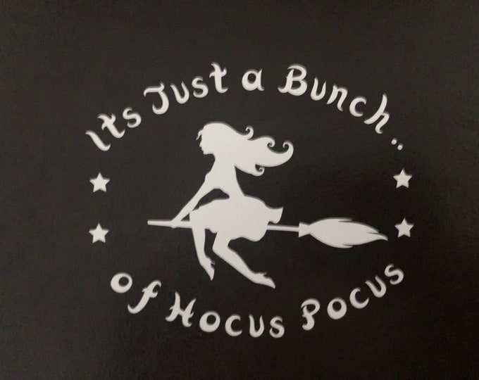 Glamour witch/cute witch decal/spellbound/ witch car decal/bewitched/hocu pocu party/basic witch/pretty witch/ beautiful witch/ seawitch