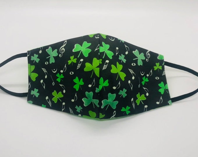 clover mask, st patricks day mask, Irish mask, clover face mask, lucky mask, irish face mask, shamrock mask, st paddy mask