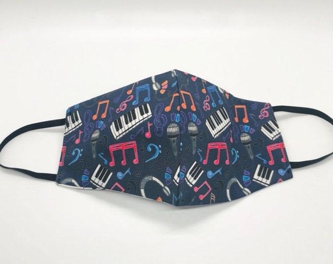 piano teacher gift, music mask, music notes mask, piano keys, musician mask, theater mask