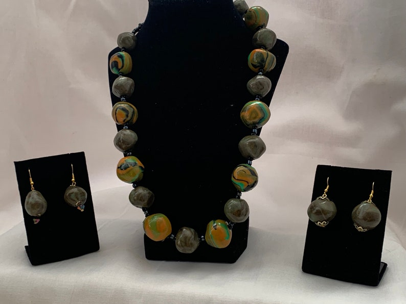 23  Beaded Polymer Clay Necklace