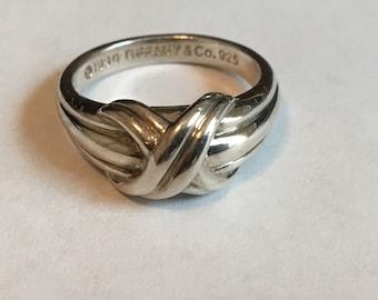 73b9b465b Tiffany & Co Signature X Sterling Silver 925 6 3/4 Ring Size