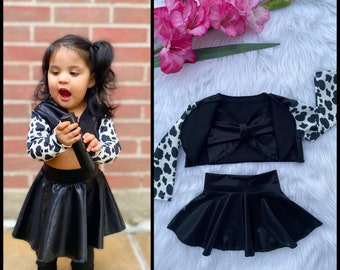 Cow Print Selena inspired outfit, cow print jacket,Selena inspired costumes,baby Selena inspired outfits