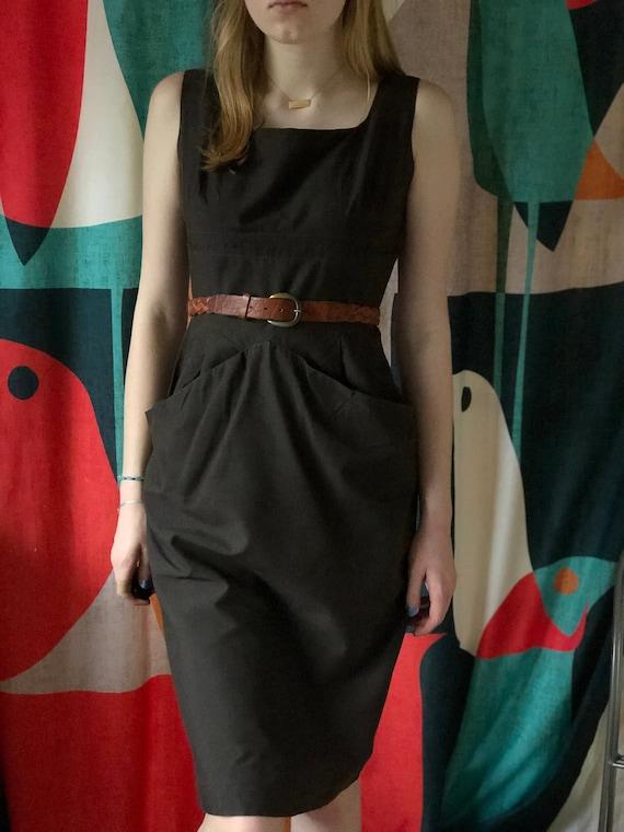 50s Hourglass Tea Length Dress
