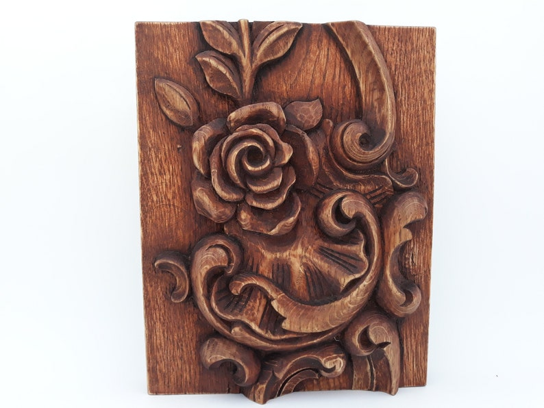 Wood Carving Art Carved Wood Wall Art Wooden Decorative Panel Wood Decor Carved Wood Wall Panel Vintage Wall Decor