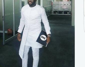 African Dashiki set, matching shirt and pant/African clothing / African men clothing / wedding suit/groom suit/dashiki...
