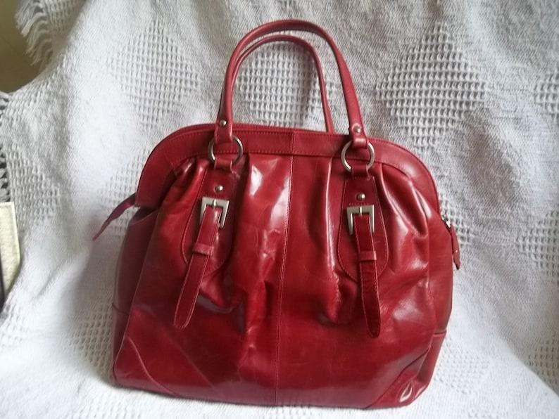 Vintage British designer leather handbag 1980/'s never worn by Austin Reed