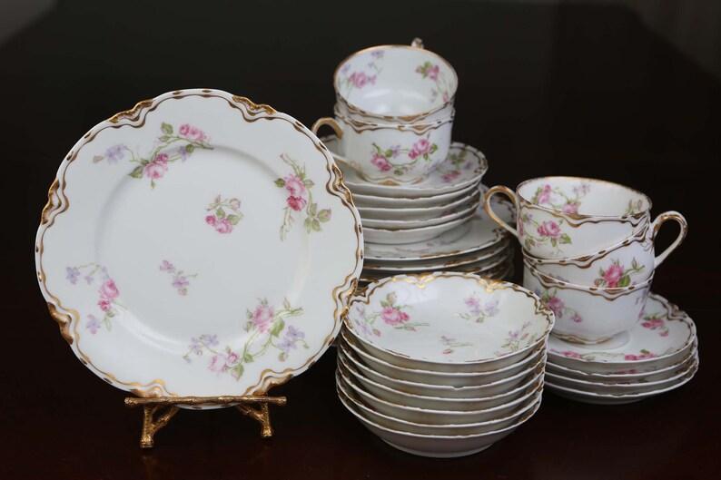 Antique Haviland & Co. Limoges France Porcelain 30 Pieces Set image 0