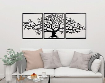 Captivating Metal Wall Art, Tree Of Life , Wall Decor, Black, Steel, Wall Decoration,  Home Decor, Gift, Modern Homes, Unique Design, Metal Art