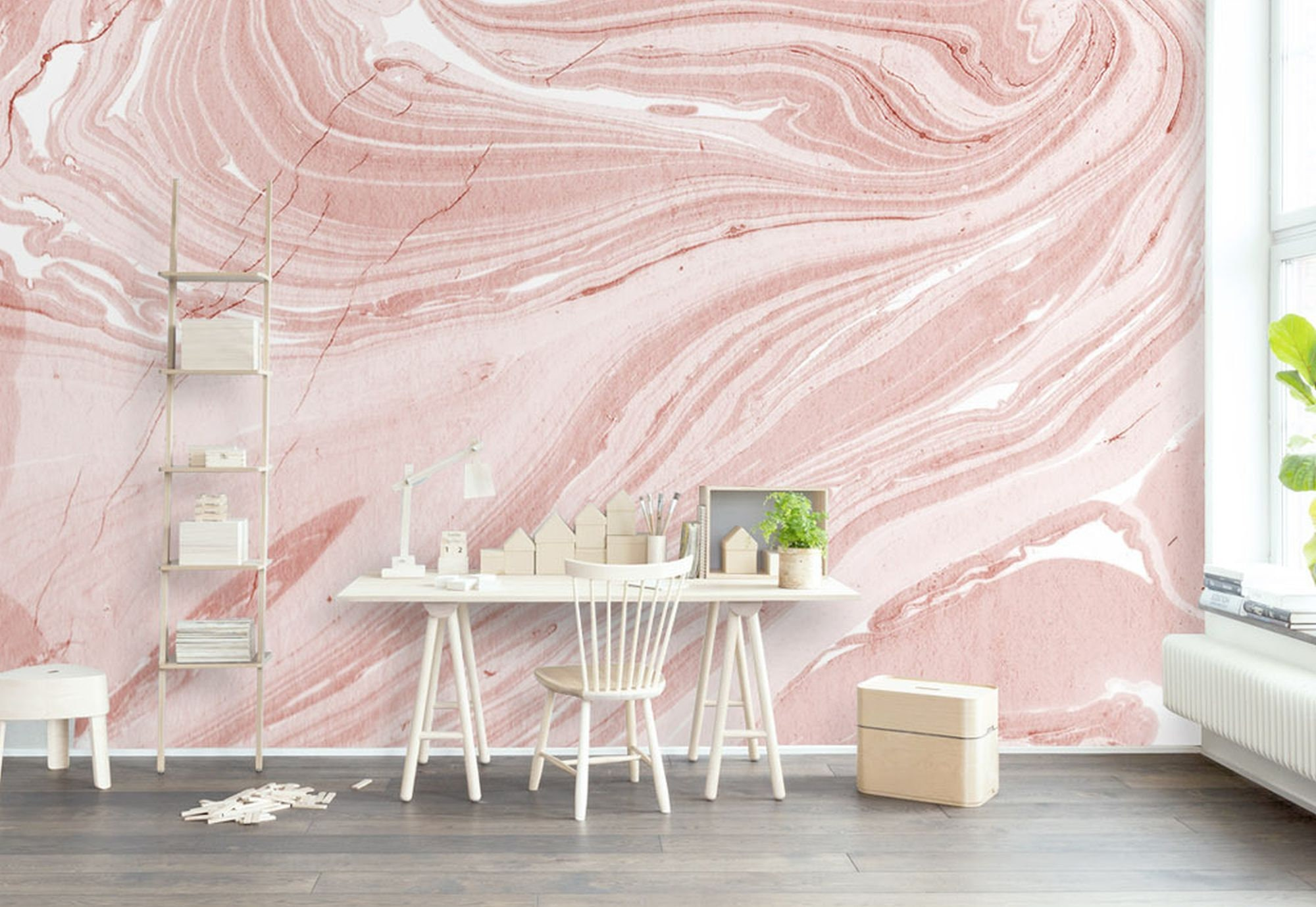 Pink Marble Wall Paper Modern Beautiful Wall Mural For Living Room Bedroom Entryway Or Cafe Mw13