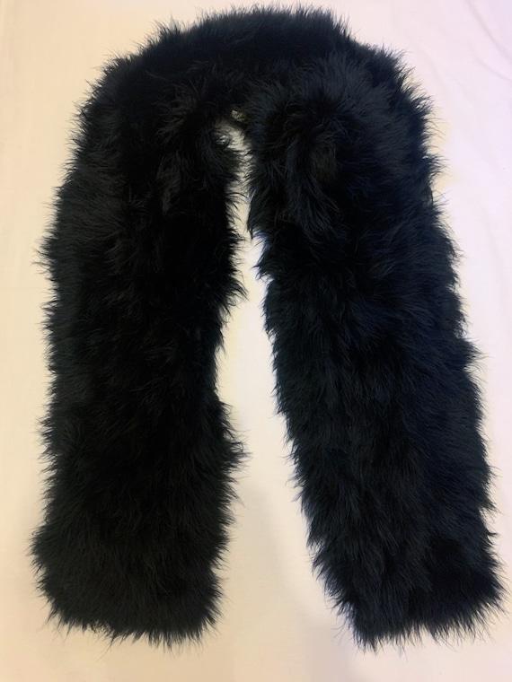 Marabou ostrich feather bolero vintage black cape