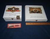 la Galera connecticut chaveta Bellas artes figurado cigar wood boxes high quality Lot 2 and free gift