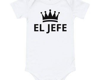 901a64533 El Jefe, Spanish Language, Baby Bodysuit, Unisex Baby ,Infant Bodysuit, Baby  Onesie, Baby Clothes, Personalized Gift, Baby Shower Gift, Baby