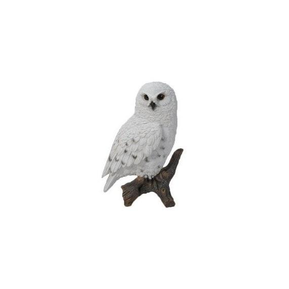 OWL TAWNY OWL ON STUMP LIFE LIKE REALISTIC FIGURINE STATUE HOME GARDEN DECOR
