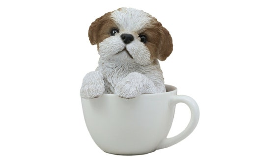 Shih Tzu Puppy Statue In A Teacup For Home Decor, Garden Decor, Outdoor  Statue, Indoor Statue, Figurine, Realistic Lifelike Statue