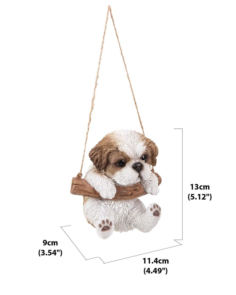 Exceptionnel Shih Tzu   Hanging Shih Tzu Puppy Statue For Home And Garden Decor    Realistic Lifelike Figurine