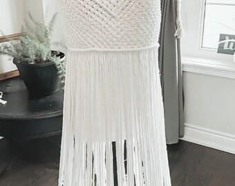 Boho macrame dress