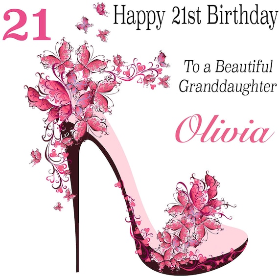 40th Any Name Handmade Personalised Birthday Card Female 18th 21st 30th
