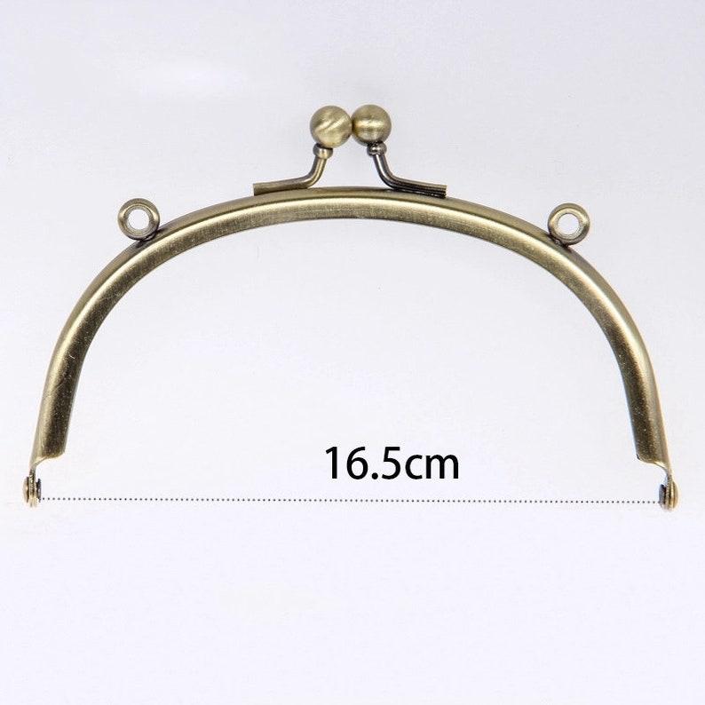 Metal Frame Kiss Clasp Lock Arch For Sewing Handbag Coin Bag Purse 20.5 x 17cm