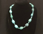 Gorgeous Vintage Hand-Strung Long Turquoise Necklace