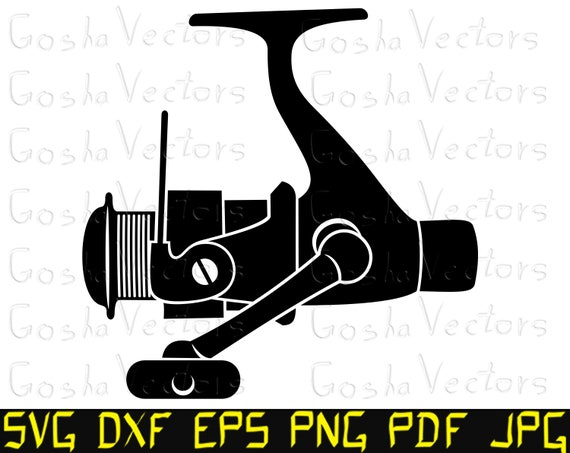 Download Fishing Reel Svg Spinning Reel Svg Fishing Svg Cut File T Shirt Vinyl Decal Silhouette Cameo