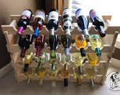 "Wine Rack, Stackable, 6-36 Bottle, ""U"" Style"